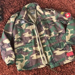 ASOS Men's Camo Jacket w/ Patches